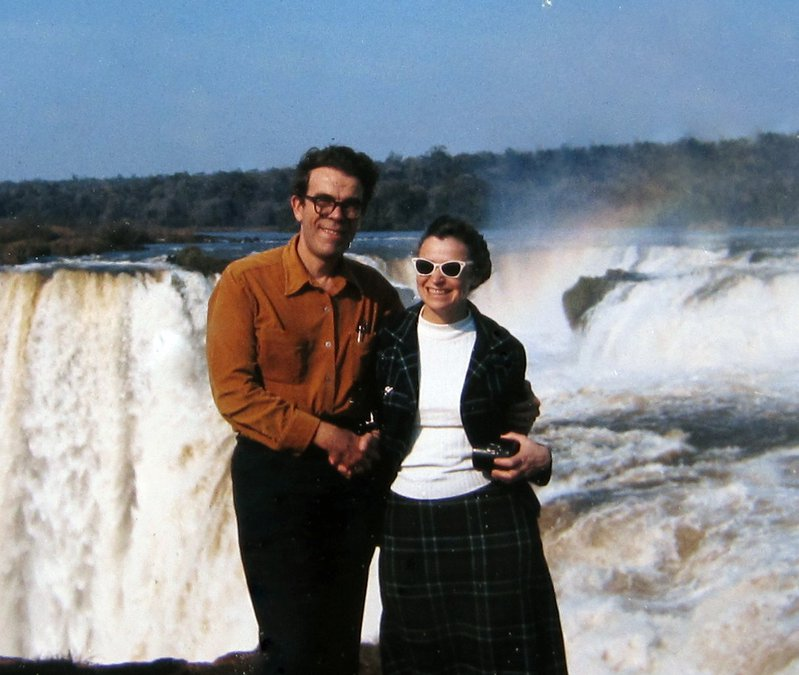 Millie and Gene at Iguacu.  Photo credit: Dresselhaus family.