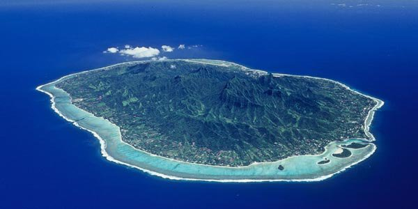 Rarotonga, the largest and most populous of the Cook Islands.