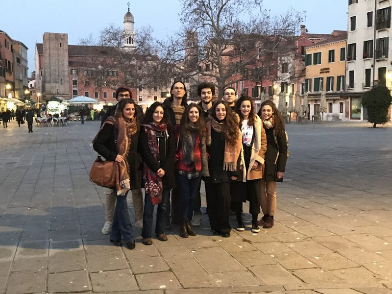 <p>Some collaborators of Humanities for Change after a meeting with the founders in Venice</p>
