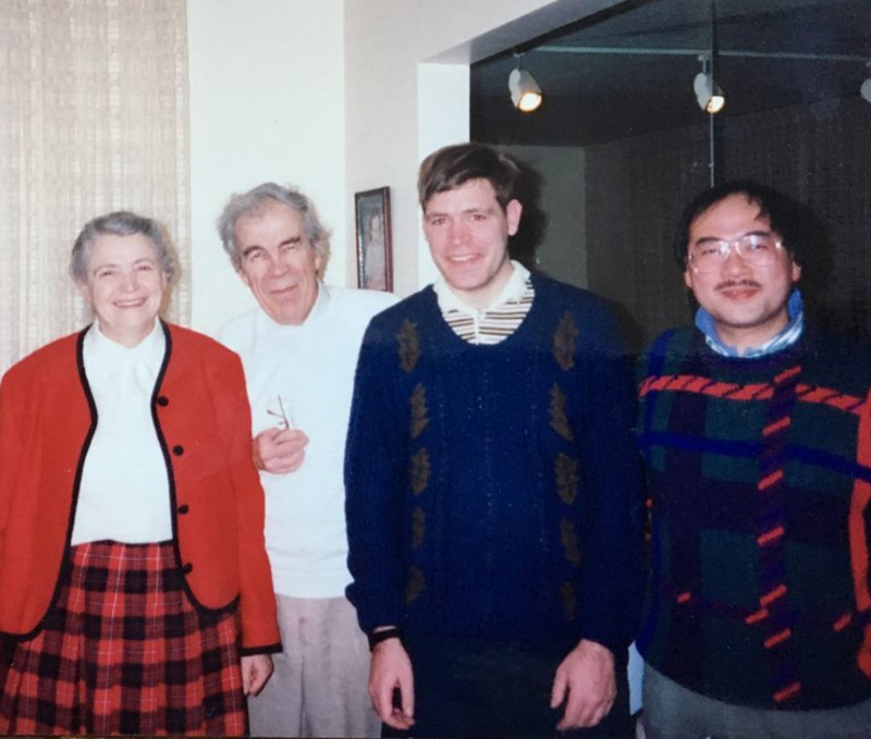 With Nobiyuki Kambe at the Elmans, 2001.