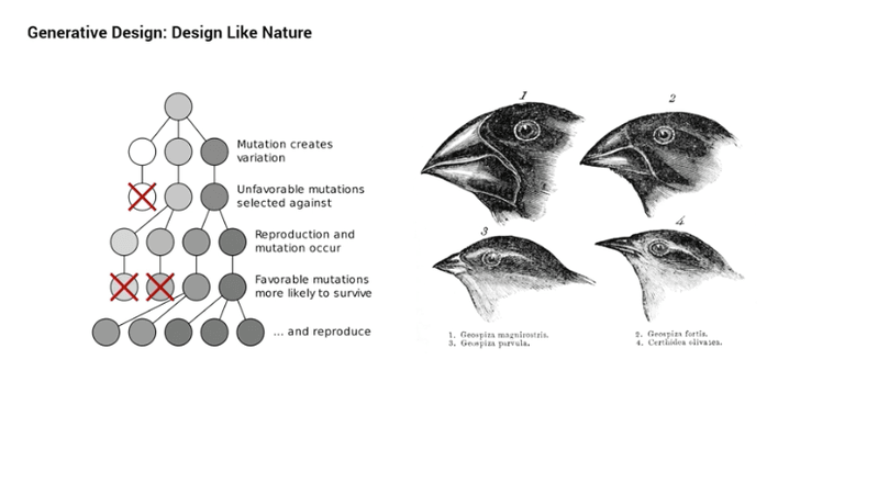 "<p>Figure 3. Slide from presentation on generative design illustrating the inspiration from the natural world.</p><p>Source: <a href=""http://au.autodesk.com/au-online/classes-on-demand/class-catalog/classes/year-2017/dynamo-studio/as124721#chapter=0"">http://au.autodesk.com/au-online/classes-on-demand/class-catalog/classes/year-2017/dynamo-studio/as124721#chapter=0</a> <br>Credit: Lorenza Villaggi / Danil Nagy / The Living</p>"