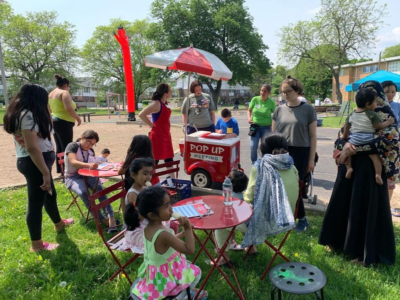 """<p class="""""""">Figure 2: A Pop Up Meeting for the design of a playground</p><p>Photo courtesy of Public Art Saint Paul</p>"""