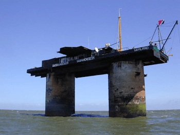 <p>Figure 35: The Principality of Sealand where we ran the Havenco business. Photo by Ryan Lackey.</p>
