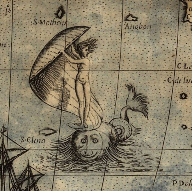 <p>Here Be Monsters: Bold Fortune on the Waves (Paolo Forlani world map, 1565)</p>
