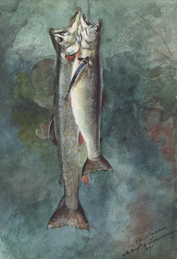 """<p class="""""""">""""Two Trout"""" by Winslow Homer (United States), 1891</p>"""