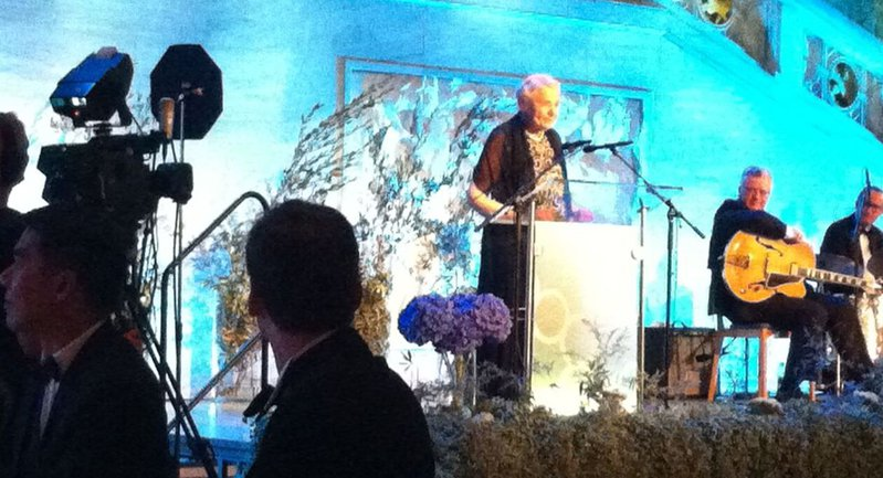 Millie at the Kavli Prize Dinner, making a speech for the King of Norway. Photo Credit: Gang Chen