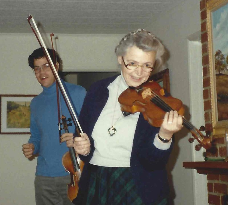 Millie always brought her violin when she came to visit us!