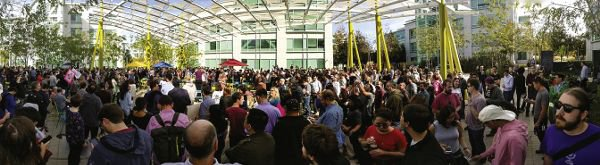 <p>Figure 8.1: The Sunnyvale, California, Google campus during the Google Walkout for Real Change on November 1, 2018. Employees turned out en masse to protest the company's handling of sexual misconduct cases. Courtesy of Wikimedia Commons user Grendelkhan.</p>