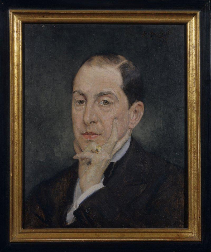 <p>-</p><p>Figure 4. Albert Braïtou-Sala, Portrait of Alexandre Joannidès at age 40, 1919.</p><p>Courtesy of the Bibliothèque-Musée de la Comédie-Française.</p>