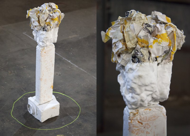 Figure 9. Project one, exhibited artifact. Assemblage I, Underbelly Arts Lab, Cockatoo Island, July 2013. Documentary photograph. © Assemblage, 2013. Courtesy of Simone Mandl.
