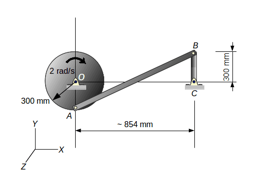 Figure  2: Design modification to allow full disk revolution. The initial  position is shown and the disk rotates 90 degrees clockwise.