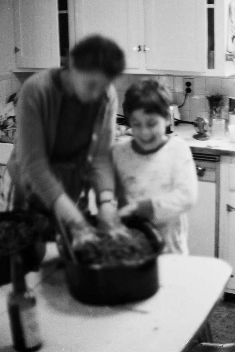 My brother Paul cooks with Millie. Photo courtesy of the Dresselhaus Family