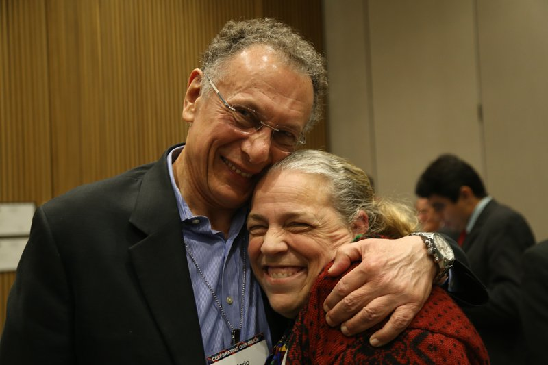 Mario Vecchi and Marianne at the Memorial.  Photo Credit: Leora Dresselhaus-Cooper