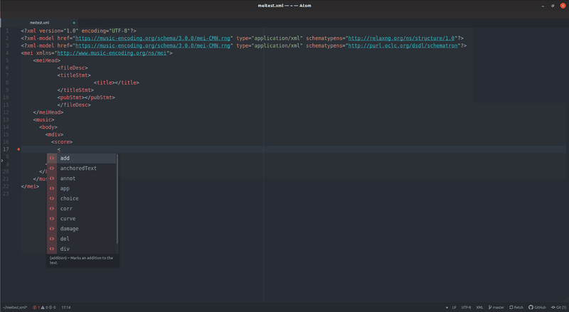 <p>Screenshot of autocomplete suggestions in Atom</p>