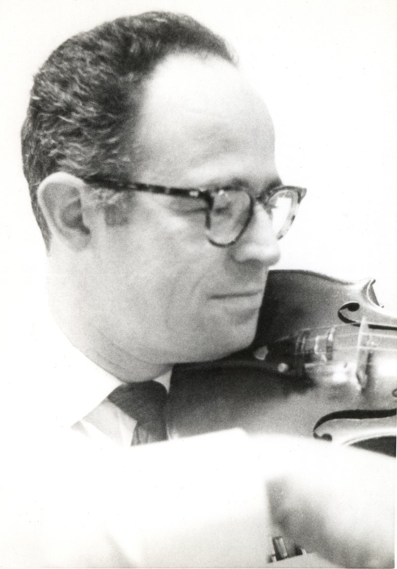 My grandfather played violin with me when I was little. Photo credit: Spiewak Family.