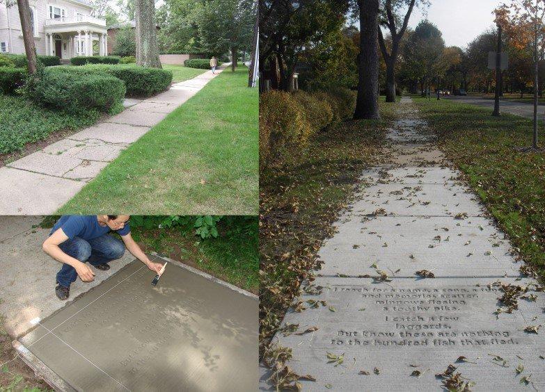 """<p class="""""""">Figure 3: <em>Everyday Poems for City Sidewalk By former City Artist Marcus Young.</em></p><p class=""""""""><em>photos courtesy of Public Art Saint Paul</em></p>"""