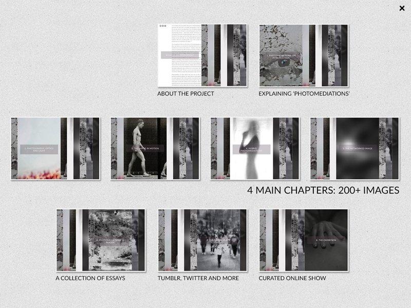 """<p>Photomediations: An Open Book: <a href=""""http://photomediationsopenbook.net/"""">http://photomediationsopenbook.net/</a></p>"""