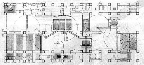塞德里克·普莱斯的「欢乐宫」(1961)。如果你去过巴黎的蓬皮杜中心,你参观的就是把这个概念披上严肃外衣的成果。