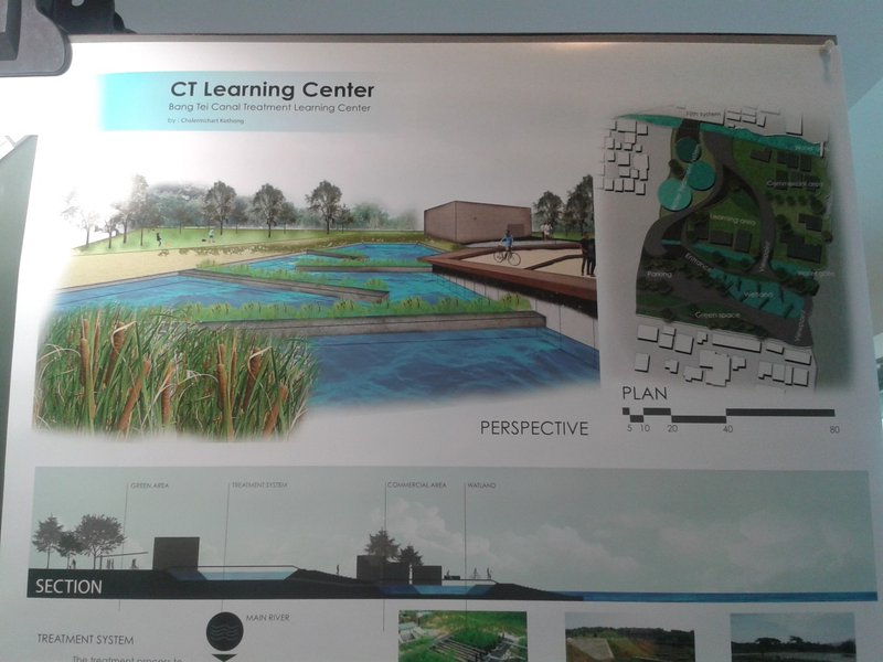 <p><br>Images 2 and 3: Exhibition of student proposals for the redevelopment of the Chao Phraya riverfront, displayed in the BACC. Source: Author's images, October 2015.</p>