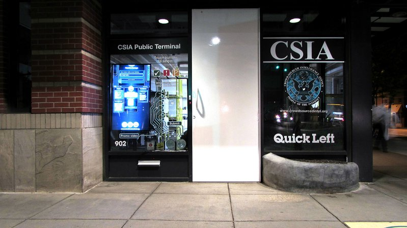 <p>Crowd Sourced Intelligence Agency (CSIA) shows the dangers of using non-human systems for intelligence work when the agents don't fully understand the systems they work with.</p>