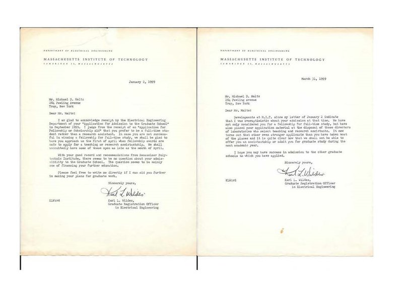 <p>My acceptance and rejection letters from MIT</p>