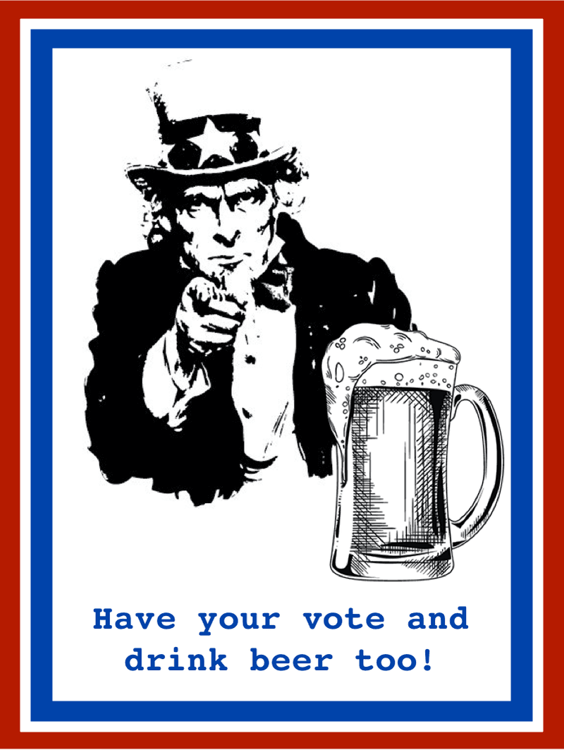 "<p><em>Memes young activists tweeted: ""Have your vote and drink beer too!""</em></p>"