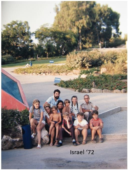 Millie and her family in Israel, 1972. Photo credit: Gene Dresselhaus