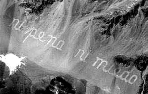 """<p>Figure 5.5 """"Ni pena ni miedo"""" (no shame nor fear), by Raúl Zurita.</p>"""