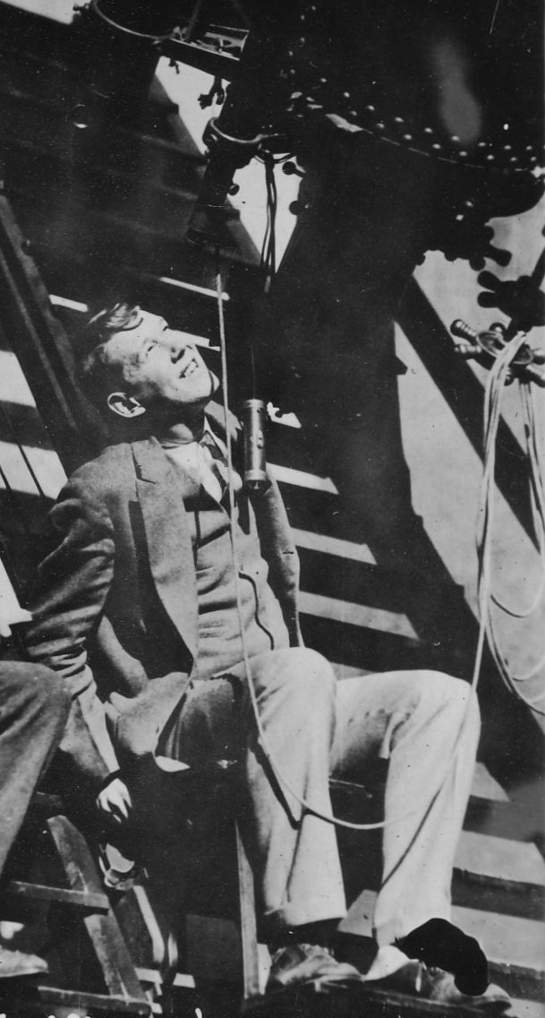 <p><em>Raymond H. Wilson, Jr., in the dome of the 24-inch refractor of Sproul Observatory, Swarthmore College, dated November 27, 1928.</em></p>