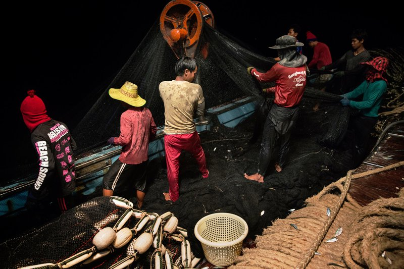 "<p><em><strong>'Sea Slaves': The Human Misery That Feeds Pets and Livestock</strong></em></p><p class=""css-1npvhc5 e1wiw3jv0"">Men who have fled servitude on fishing boats recount beatings and worse as nets are cast for the catch that will become pet food and livestock feed.</p>"