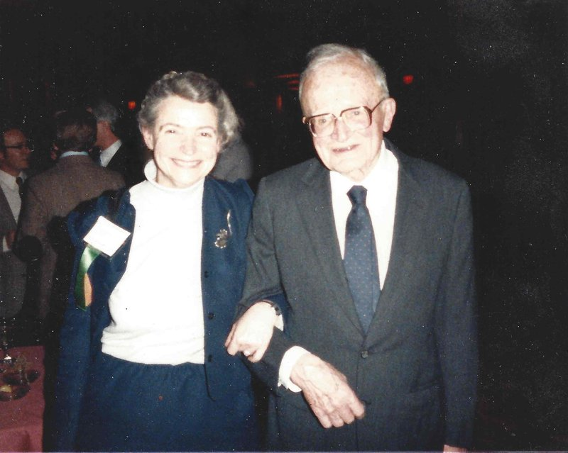 Millie and Arthur von Hippel at MRS in 1984